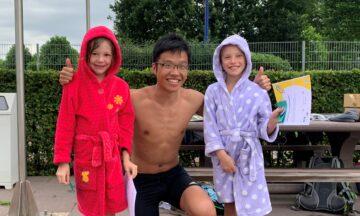 Ein voller Erfolg: Schwimmen lernen